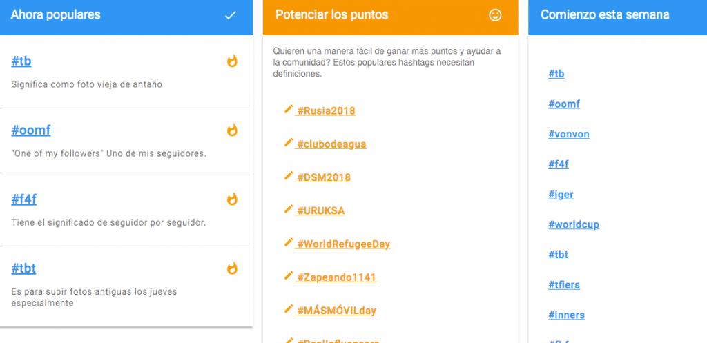 los hashtag mas usados
