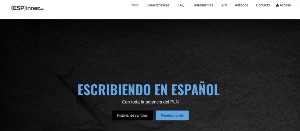 spinear textos online y español